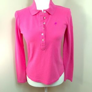 Lilly Pulitzer Polo Shirt Size S Bright Pink